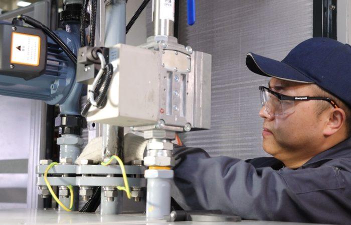 BG Biogas Genset inspect